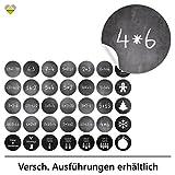 cute-head 24 Adventskalender-Zahlen + 11 Motive (Aufkleber Etiketten Sticker) | Kreidetafel...