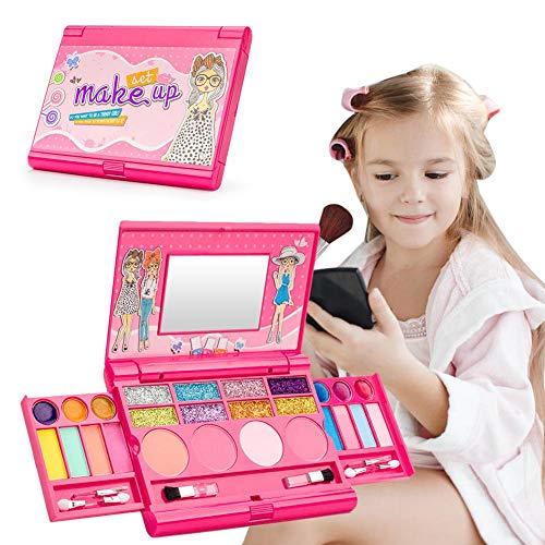 lingzhuo-shop Kinderschminke Set My First Makeup Set Make-up-Set Für Mädchen Mit Spiegel Prinzessin Mädchen Kosmetik Spielset Palette Eitelkeit Waschbar Und Ungiftig Make-up Kit Für Kinder