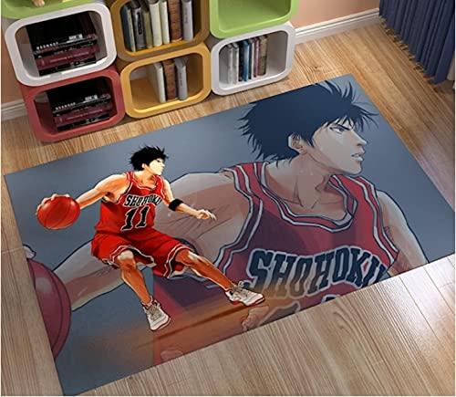 Vscdye Baloncesto Deporte Felpudo Alfombra Alfombra 3D Alfombra Dormitorio Sala De Estar Alfombra Antideslizante Regalo De Dibujos Animados180X280Cm
