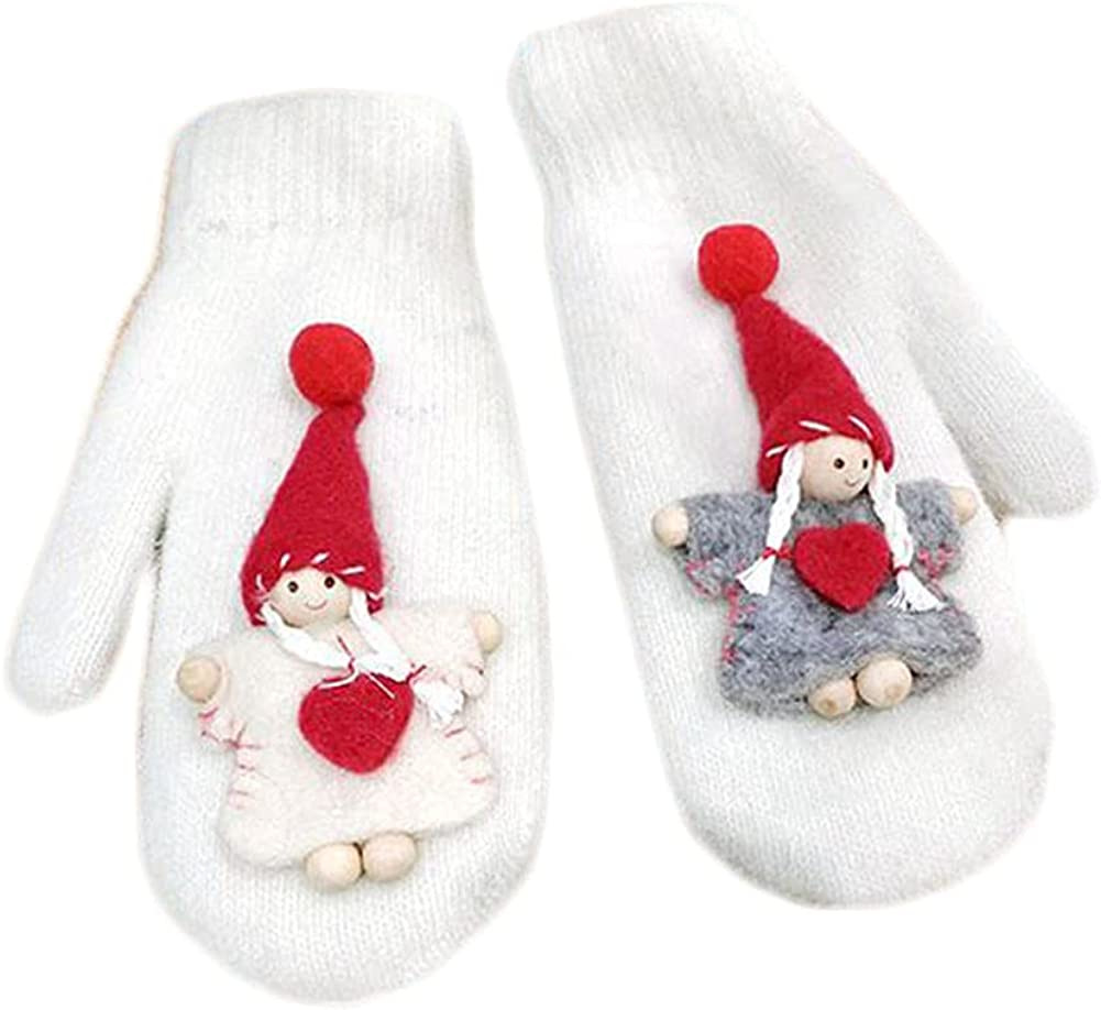 Winter Mittens For Women Mitten Warm Fluffy Glove Cycling Running Work Cold Weather Christmas