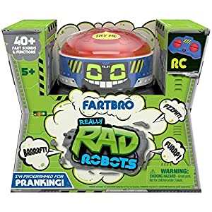 Really R.A.D. Robots Fartbro - Electronic Remote Control Farting Robot - 40+ Fart Sounds and Functions, The Ultimate Fart Machine - Great for Pranking Friends and Family - 51J82Xu0uSL - Really R.A.D. Robots Fartbro – Electronic Remote Control Farting Robot – 40+ Fart Sounds and Functions, The Ultimate…