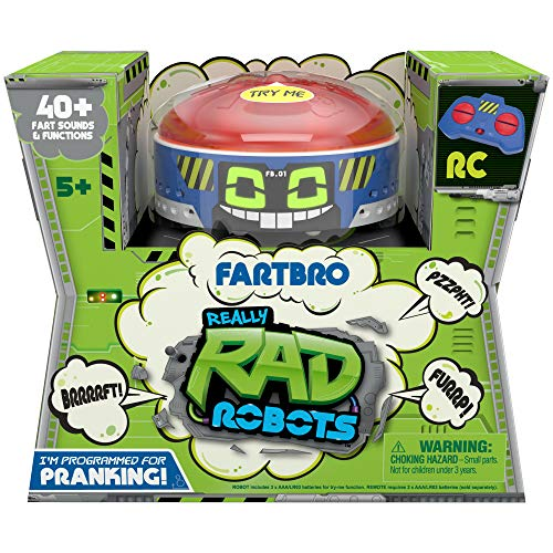 Really R.A.D. Robots Fartbro - Electronic Remote Control Farting Robot - 40+ Fart Sounds and Functions, The Ultimate Fart Machine - Great for Pranking Friends and Family