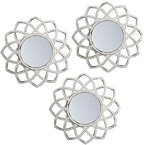 Lama Espejos de Pared, Blanco, 75x25x1.5 cm 3 Unidades