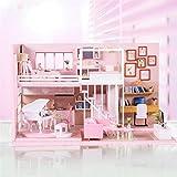 tanbea-ES 3D ensamblado Loft Handmade House DIY Dollhouse Kit con Movimiento Musical Mini Cabina para cumpleaños de Navidad Regalo de San Valentín Beneficial