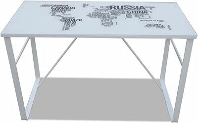 vidaXL Escritorio Rectangular con mapamundi Impreso: Amazon.es: Hogar