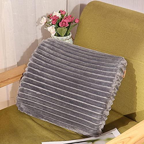 WSZMD Memoria Espuma Almohada Lumbar Almohada Oficina De Oficina Espuma Lumbar Cojín Coche Viaje Durmiendo Franela Lumbar Cojín,C-35 * 33cm