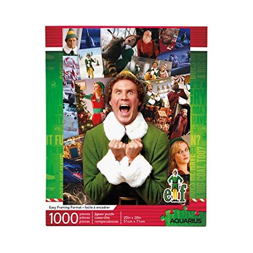 AQUARIUS Elf Collage Puzzle (1000 Piece Jigsaw Puzzle) - Glare Free - Precision Fit - Virtually No Puzzle Dust - Officially Licensed Elf Merchandise & Collectibles - 20 x 28 Inches
