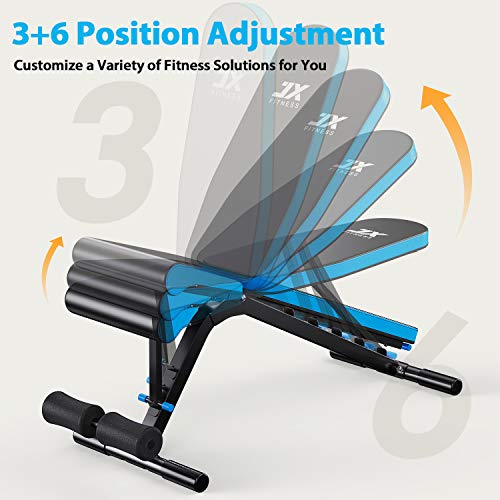 jx fitness bench back pad positions