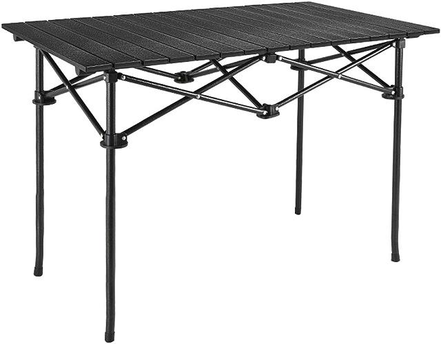 Pliant Camping Table Aluminium LéGer Extra Strength Portable IntéRieur ExtéRieur Garden Party De Vacances De Pique-Nique Barbecue avec Sac De Transport Et Facilement Portable