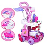 deAO Toys Chariot de ménage avec Accessoires, Fonctions Lumineuses et sonores.