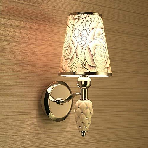 Piezas mecánicas Lámpara de pared para exteriores Lámpara de pared LED Lámpara de noche para dormitorio Lámpara de pared de tela moderna Balcón Pasillo Escalera Lámpara de pared de cerámica Alto gu