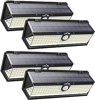 4-Pack LITOM 122 LED Solar Outdoor Lights