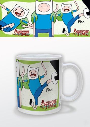 Adventure Time MG22142 - Taza de cerámica, diseño de Finn de Hora de Aventura - Taza Hora de Aventuras Finn