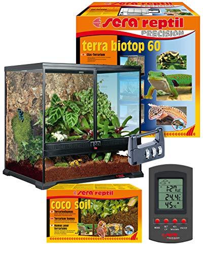 sera 32000 reptil Terra biotop 60 Terrarium - ein modernes Glasterrarium 60x60x45cm zur Haltung von Zwerg-Bartagamen, Chamäleons, Frösche, Salamander und Schnecken oder Insekten