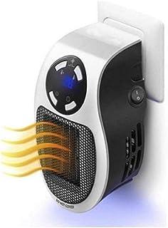QREZ Calefactor Electrico Portatil, Calefactor Electrico Bajo Consumo Enchufe 500W Cerámico Heater Mini Cerámico Protección De Sobrecalentamiento Y Volcado para Hogar Y Oficina,No Remote Control