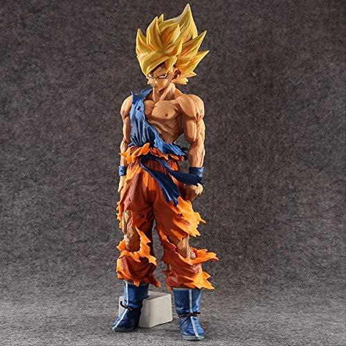 Huhu Dragon Ball Z Super Master Stars Piece El Son Goku 34Cm Gris Colorido Ver. Figura de acción de PVC de Juguete Coleccionable