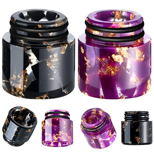 2 Pieces 810 Drip Tips Replacement, Honeycomb Standard Replacement Drip Tips, Resin Honeycomb Look Drip Tip Connector Cover for Coffee Machine Favors Ice Maker