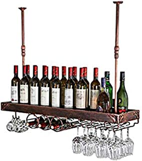 YZ-YUAN Porte-Verre à vin de Haute qualité Porte-vin en métal Porte-vin décoratif de Rangement Porte-vin - Casier à vin Su...