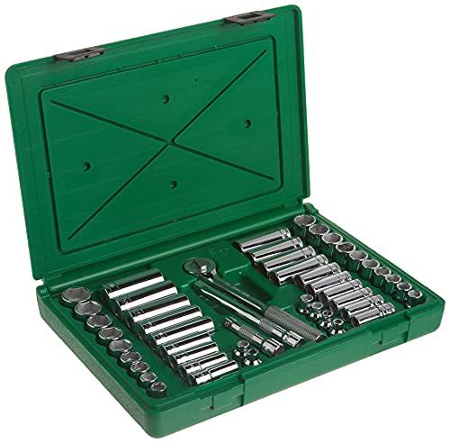 SK Hand Tool 94547 Deep Socket Set – 47 piece Metric Tools, Durable, Corrosion Resistant. Standard Fractional Impact Sockets