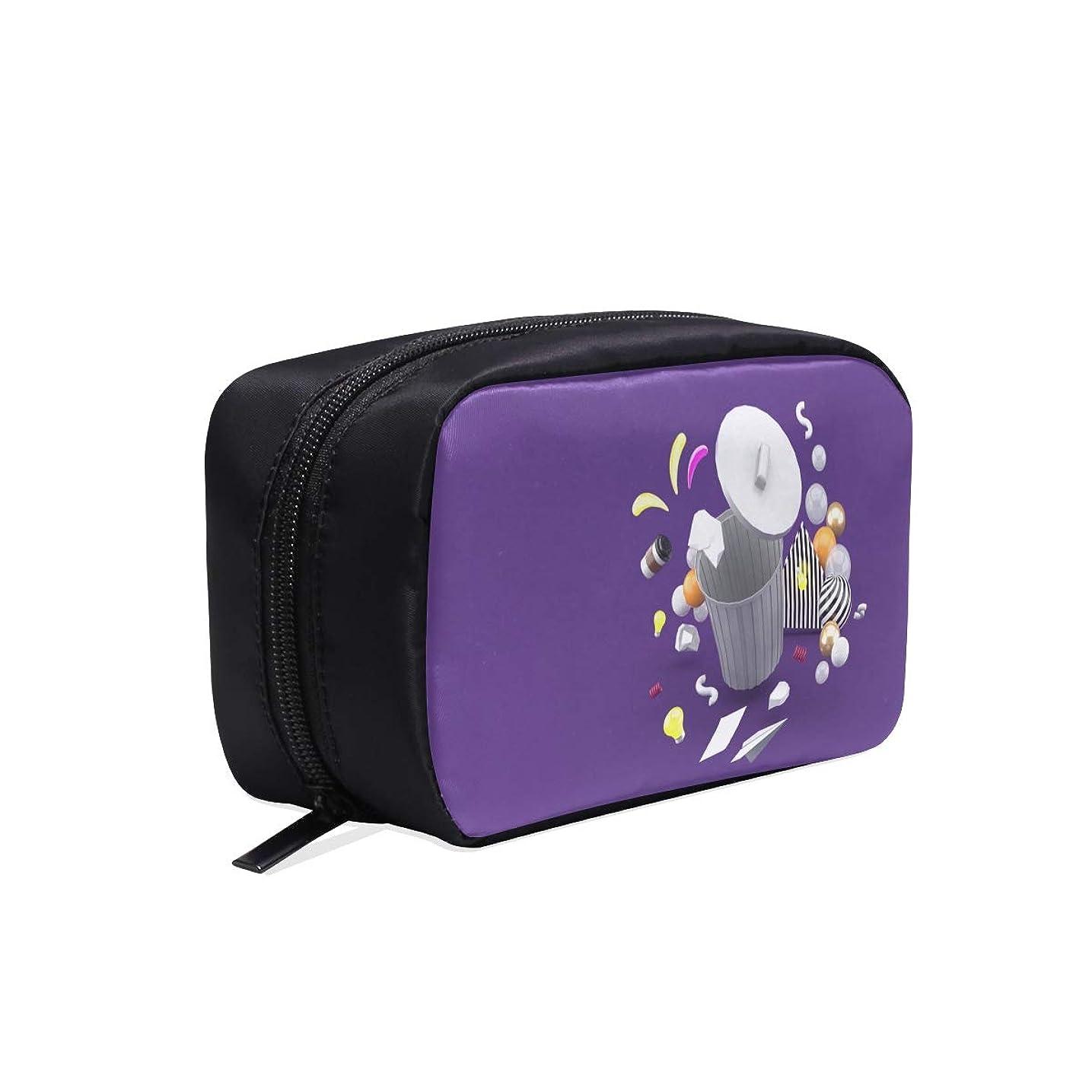 ゴシップセントアンプMDKHJ メイクポーチ ゴミ箱3d ボックス コスメ収納 化粧品収納ケース 大容量 収納 化粧品入れ 化粧バッグ 旅行用 メイクブラシバッグ 化粧箱 持ち運び便利 プロ用