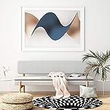 Wishstar 3D Illusion Teppich, Optischer Täuschungsteppich Teppich, Runder Mandala-Teppich Für Wohnzimmer Schlafzimmer Flur Läufer Esszimmer Teppich Fußmatte Anti-schlittern Non Shedding - 3