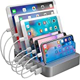 Hercules Tuff Charging Station for Multiple Devices - 6 Short Mixed...