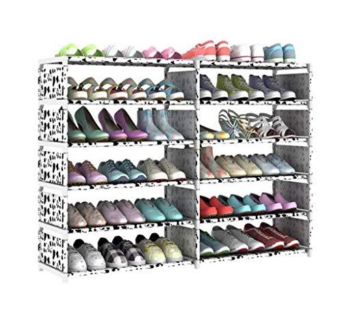 YISUNF Zapatero Pasillo Muebles Zapato Bastidores Zapatero Zapato gabinete a Prueba de Polvo y Sencilla Tela de Puerta del Armario del almacenaje Organizar