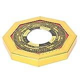 Zwindy Espejo de Feng Shui Chino Tradicional, Espejo de chismes Espejo de Feng Shui Chino, Regalo Resistente y Duradero para contrarrestar la Mala(13.5cm Diameter Convex Mirror)