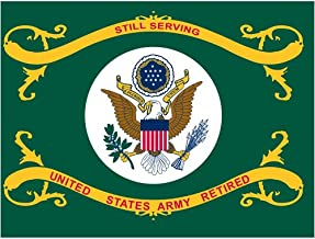 Online Stores US Army Retired Super Knit Polyester Flag, 3 by 4-Feet