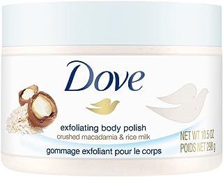 Dove Exfoliating Body Polish| Body Scrub |Deeply Nourishing Crushed Macadamia and Rice Milk |Moisturises & Brightens Skin...