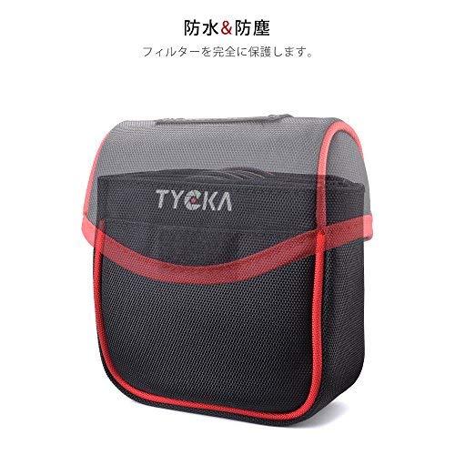 Tyckaフィルターケース日常生活防水・防塵フィルターポーチ5枚用取り外し可能な内側仕切り現場作業が容易86mmまでの円形フィルターも対応ブラックTK001