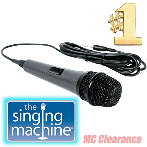 Singing Machine Unidirectional Dynamic Microphone SMM-206 with 10 Ft. Cord (Refurbished)