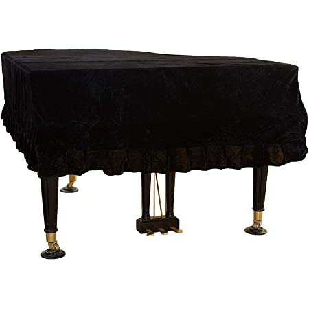 MAYiT Grand Piano Cover, Pleuche Dustproof Piano Cover Washable with Velvet Soft Bordered Triangle Decorated Protective Cover Cloth