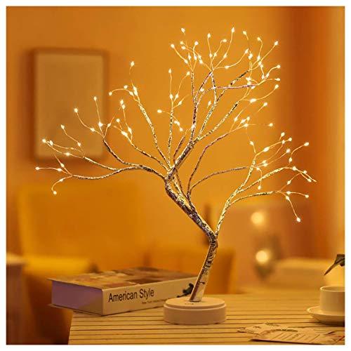 Nachtlicht Baum Lichter mit Touch Button - 108 LED Lichterkette, Batterie & USB betrieben Nachtlichter Tisch Nachttischlampen Kinderzimmer Dekor Stimmungslichter für Festlich,Weihnachten,Schlafzimmer