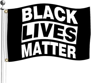 Black Lives Matter BLM Flag 3x5 Outdoor- Black Lives African American Flags Durable Grommets for House Indoor Decor Parade