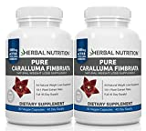 #1 Rated Caralluma Fimbriata for Weight Loss, 2 Bottle Pack, 90 Capsules Per Bottle, 3 Month Supply, 10:1 Extract Ratio, 1000mg Per Serving, MFD USA, Free Shipping