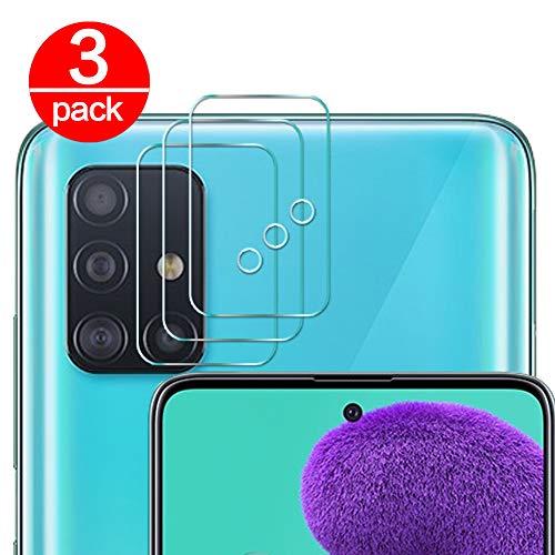Coqin [3 Pack] Vetro Temperato per Lente Fotocamera Samsung Galaxy A51, Pellicola Protettiva Ultra Sottile 2.5D 9H Anti-graffio Durezza Protettore Film