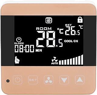 Julykai Régulateur de température numérique intelligent, écran LCD, thermostat intelligent pour interrupteur central de cl...