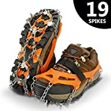 IPSXP Ice Snow Grips, Traction Cleats Crampons for Footwear with 19 Stainless Steel Spikes for Walking,...