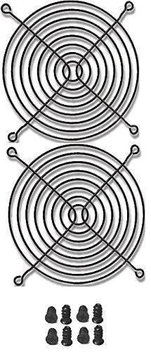 Coolerguys Rejillas de Dedo para Ventilador, 120 mm, Color Negro