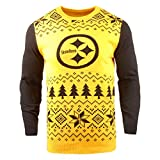 Klew Men's Two-Tone Cotton Ugly Sweater, Yellow, X-Large