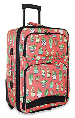 Ever Moda Cactus Carry On Luggage