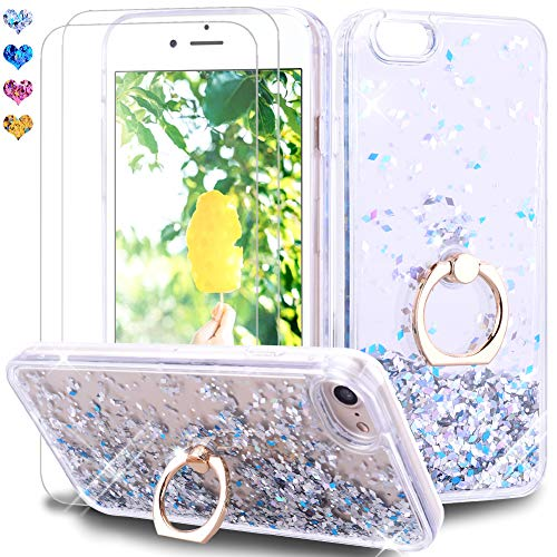 Feyten Funda iPhone 6S Plus/iPhone 6 Plus [2-Unidades Cristal Vidrio Templado], Glitter...