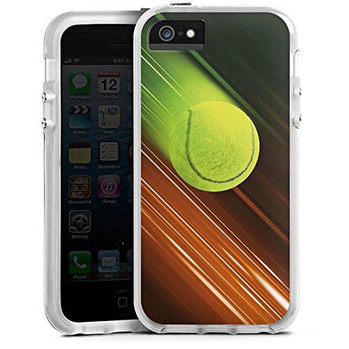 DeinDesign Apple iPhone SE Bumper Hülle Bumper Case Schutzhülle Tennis Tennisball Speed