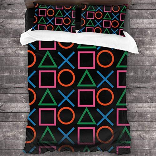 Playstation Joypad 3-Piece Bedding Set Duvet Cover Quilt Covers Pillowcases Cushion C1155