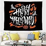 YYRAIN Halloween Poliéster Paño De Pared Tapiz Bar Banquete Arte De La Pared Decoración Colgante De Pared Mantel Multifuncional 59x52 Inch{W150xH130cm}