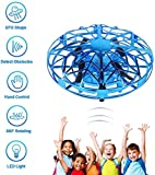 XINHUANG UFO Jouets Volants Mini Heliball RC vol Hand Ball contrôlée Drone Volant Orb Infrarouge à Induction Hover 360 Whirlyball avec lumières Volant Jouet (Color : Blue)