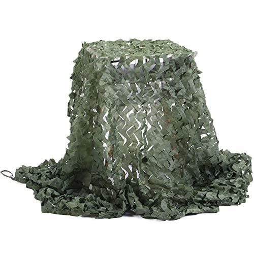 Filet de D'ombre,Camouflage Net Maille de Soleil Camo Auvents Tente Tissu Oxford,Convient pour Plage Pêche Couverture de Voiture Plante Couverture Protection Camping Cacher Chasse Tournage,Vert