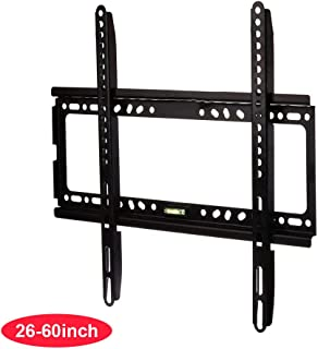TV Wall Mount Bracket Low Profile for 26-60 inch Screen LED LCD OLED 4K TV with VESA up to 400x400mm Weight Capacity Up to 110lbs, Match for Samsung LG Sony TV by WZTO (26-60 inch)