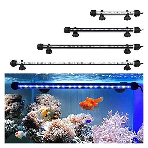 Luz de pecera Acuario de luz LED a prueba de agua del acuario con la luz del botón de interruptor del acuario del LED iluminación de la lámpara 220V 19/29 / 39 / 49cm ( Color : 49cm RGB With Remote )